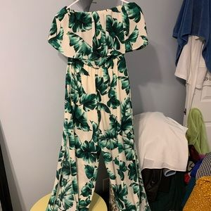 NWT strapless jumpsuit